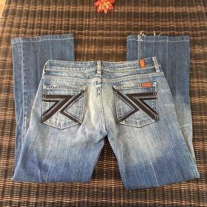 7 for all mankind flynt Swarovski pocket jeans